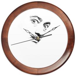 """Часы круглые из дерева """"Dali clock"""" - дали, dali"""