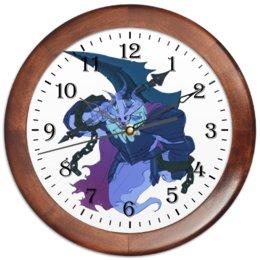 """Часы круглые из дерева """"Знак Зодиака Телец"""" - подарок в дом, знак зодиака телец, подарок для тельца, символ телец, товары для тельцов"""