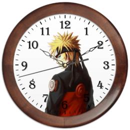 "Часы круглые из дерева ""Naruto"""