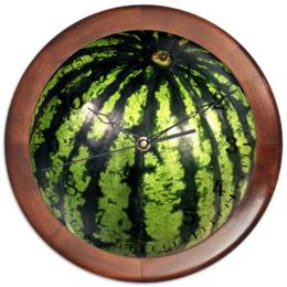 "Часы круглые из дерева ""Арбуз"" - арбуз, watermelon"