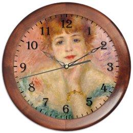 """Часы круглые из дерева """"Портрет актрисы Жанны Самари (Ренуар)"""" - картина, живопись, ренуар"""