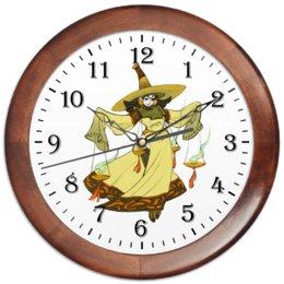 """Часы круглые из дерева """"Знак зодиака Весы"""" - знак зодиака весы, товары для весов, символ знака весы, товары для интерьера, подарок весам"""