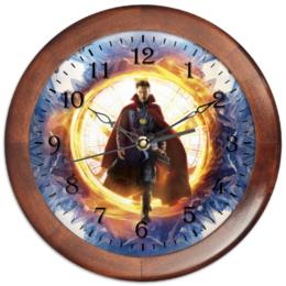 """Часы круглые из дерева """"Доктор Стрэндж"""" - marvel, мстители, марвел, доктор стрэндж, doctor strange"""