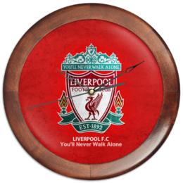 "Часы круглые из дерева ""Liverpool"" - футбол, арт, англия, football, uk, ливерпуль, liverpool, fc"