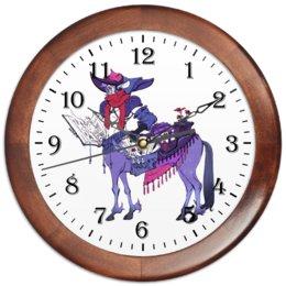 """Часы круглые из дерева """"Знак зодиака Стрелец"""" - знак зодиака стрелец, товары для стрельца, товары для интерьера, подарок стрельцу, символ знака стрелец"""