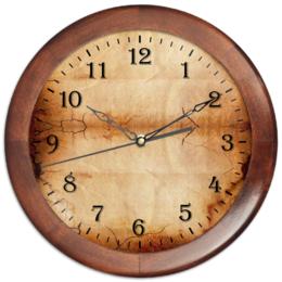 """Часы круглые из дерева """"Старые часы"""" - дизайн, время, старинные, циферблат, настенные часы"""