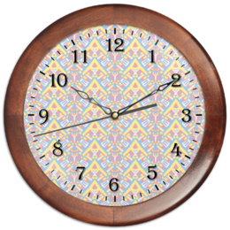 "Часы круглые из дерева ""ngjjvbn480"" - арт, узор, абстракция, фигуры, текстура"