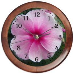 """Часы круглые из дерева """"Цветущая долина"""" - лето, алтай, горный алтай, цветущая долина, долина цветов"""
