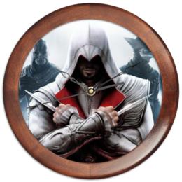 """Часы круглые из дерева """"Assassin's Creed"""" - assassin's creed, ассасин, кредо ассасина"""
