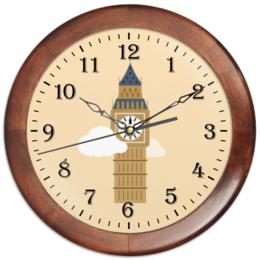 """Часы круглые из дерева """"Big Ben"""" - лондон, биг-бен, big ben"""