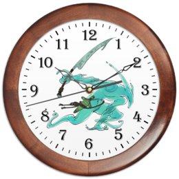 """Часы круглые из дерева """"Знак зодиака Водолей"""" - знак зодиака водолей, товары для интерьера, товары для водолеев, подарок для водолея, символ знака водолей"""
