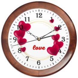 """Часы круглые из дерева """"Любовная надпись."""" - сердце, любовь, девушка, настроение, чувства"""