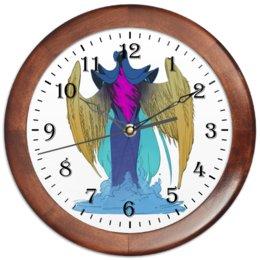 """Часы круглые из дерева """"Знак зодиака Дева"""" - знак зодиака дева, подарок для девы, товары для девы, товары для интерьера, символ знака дева"""