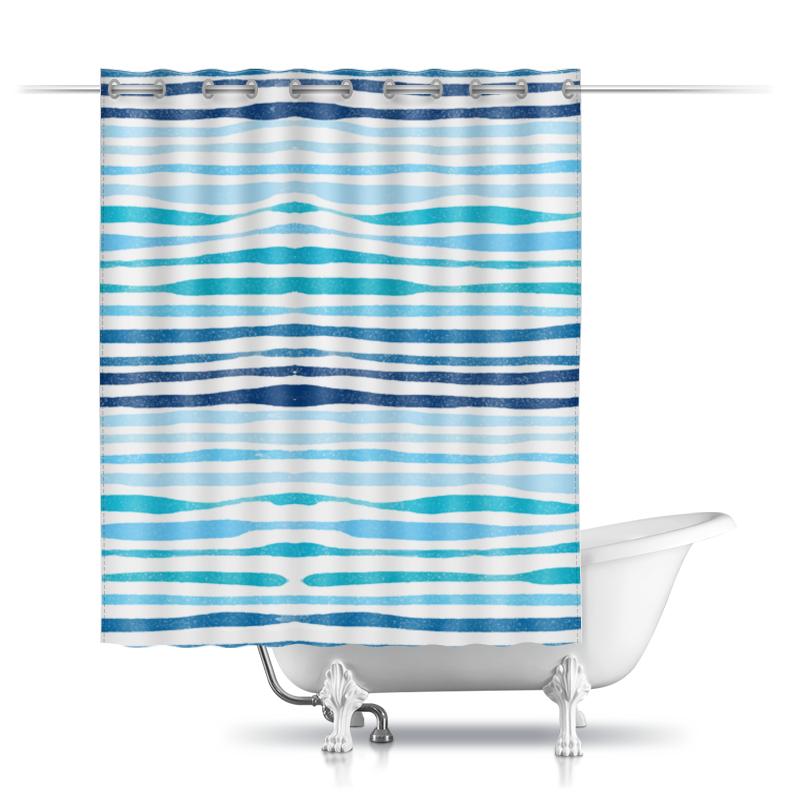 Шторы в ванную Printio Акварельная шторы в ванную printio плывущие рыбы