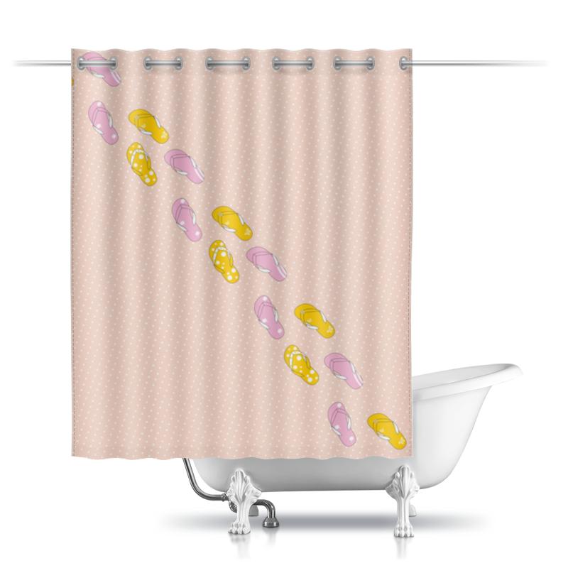 Шторы в ванную Printio Сланцы