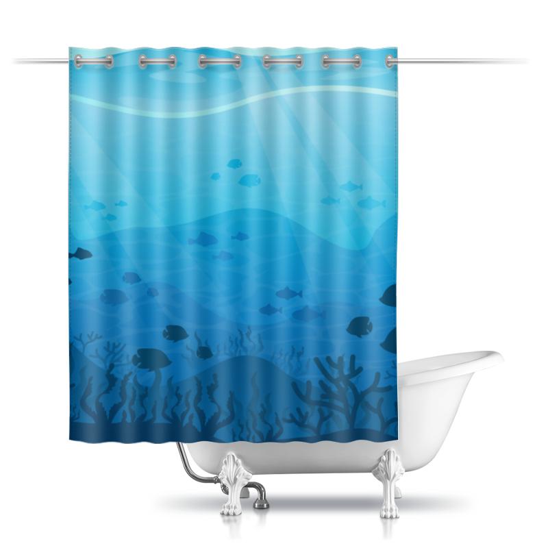Шторы в ванную Printio Подводный мир раскраска в конверте подводный мир