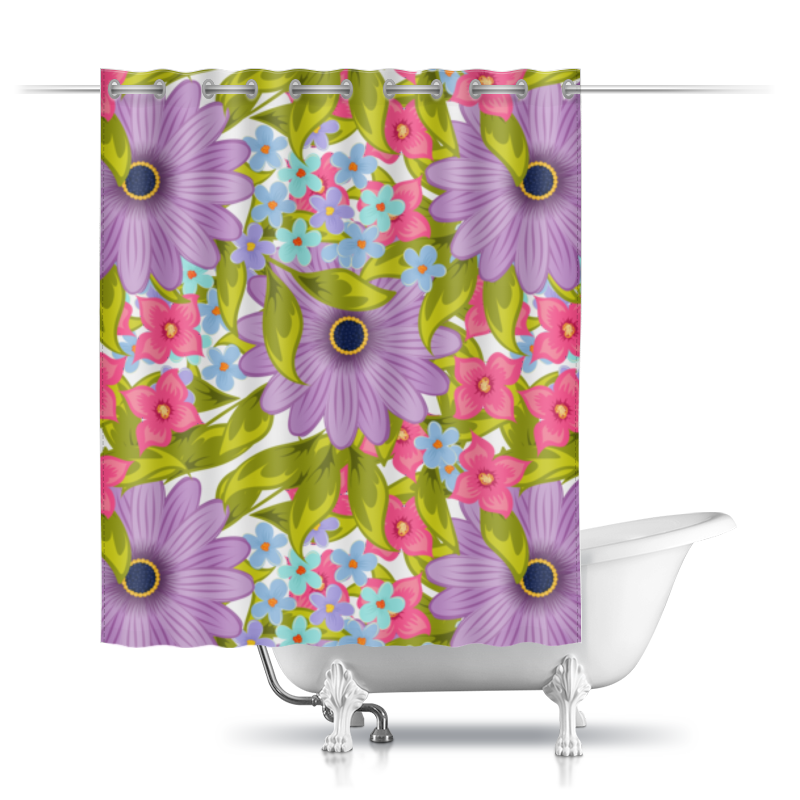 Printio Цветы шторы в ванную printio акварельная