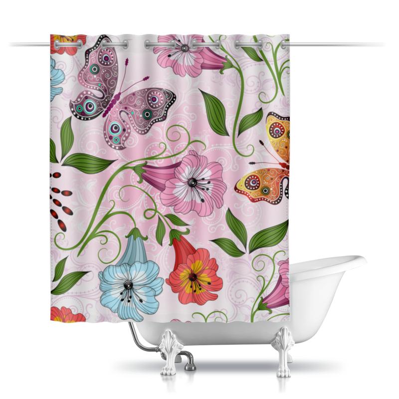 Шторы в ванную Printio Летние цветы