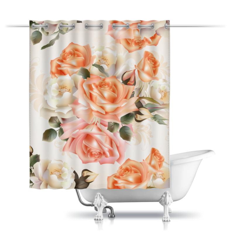 Шторы в ванную Printio Чайная роза шторы томдом классические шторы менак цвет пыльная роза