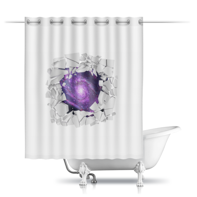Шторы в ванную Printio Space animals шторы томдом классические шторы вольтер к цвет бирюзовый