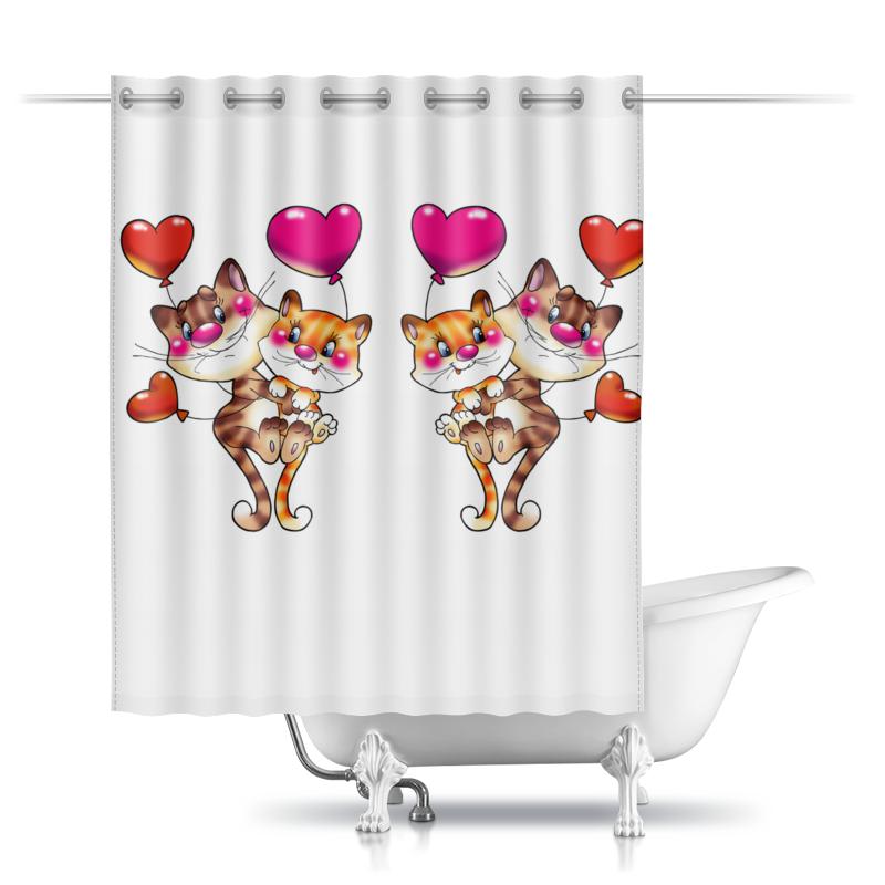 Шторы в ванную Printio Любовь
