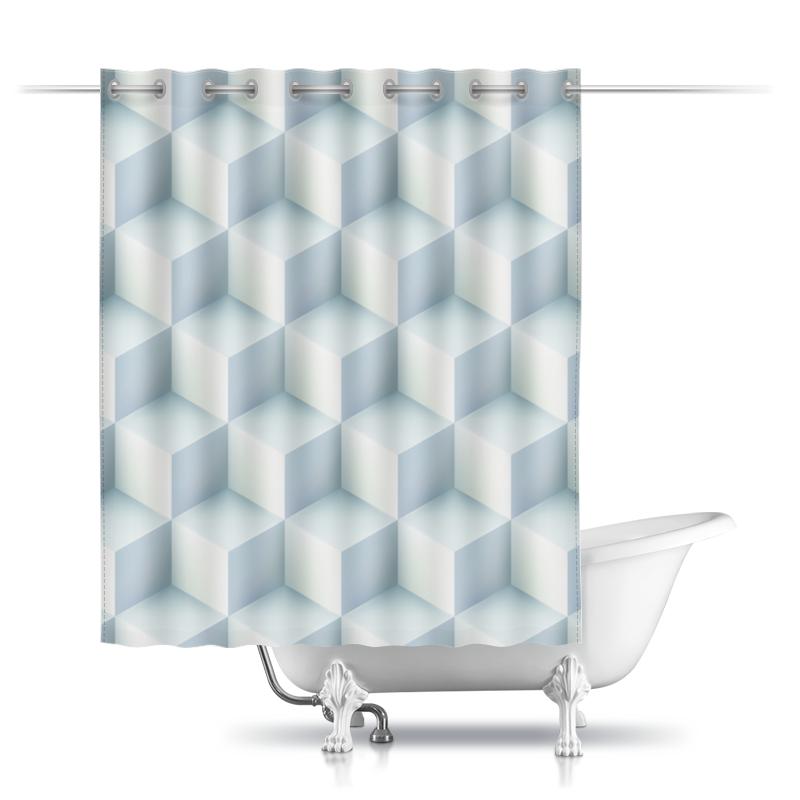 Шторы в ванную Printio Кубическая иллюзия опасная иллюзия