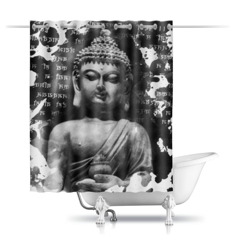 Шторы в ванную Printio Будда (письмена) шторы в ванную printio плывущие рыбы
