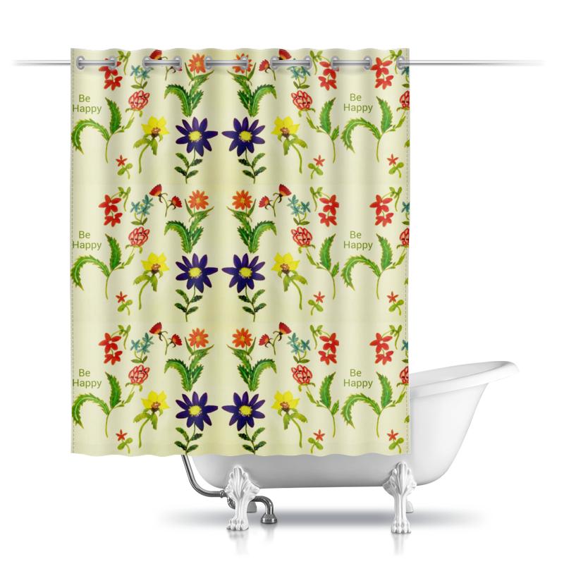 Шторы в ванную Printio Цветы тропиков