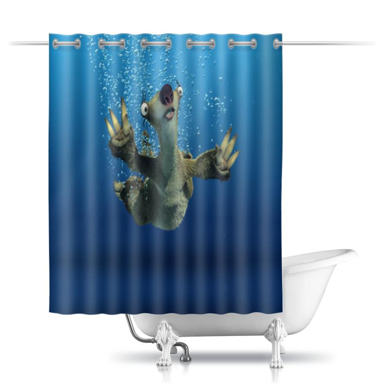 Шторы в ванную Printio Ледниковый период (сид под водой) фотошторы тюлевые под водой