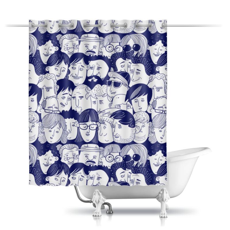 Шторы в ванную Printio Многоликая шторы в ванную printio boooom