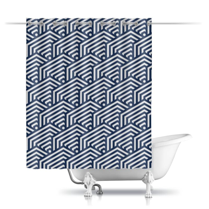 Шторы в ванную Printio Абстрактный шторы в ванную printio квадраты