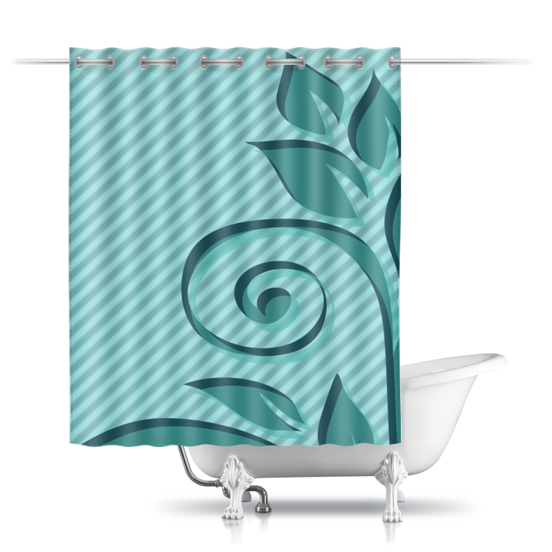 Шторы в ванную Printio Мятная фантазия. шторы в ванную printio плывущие рыбы