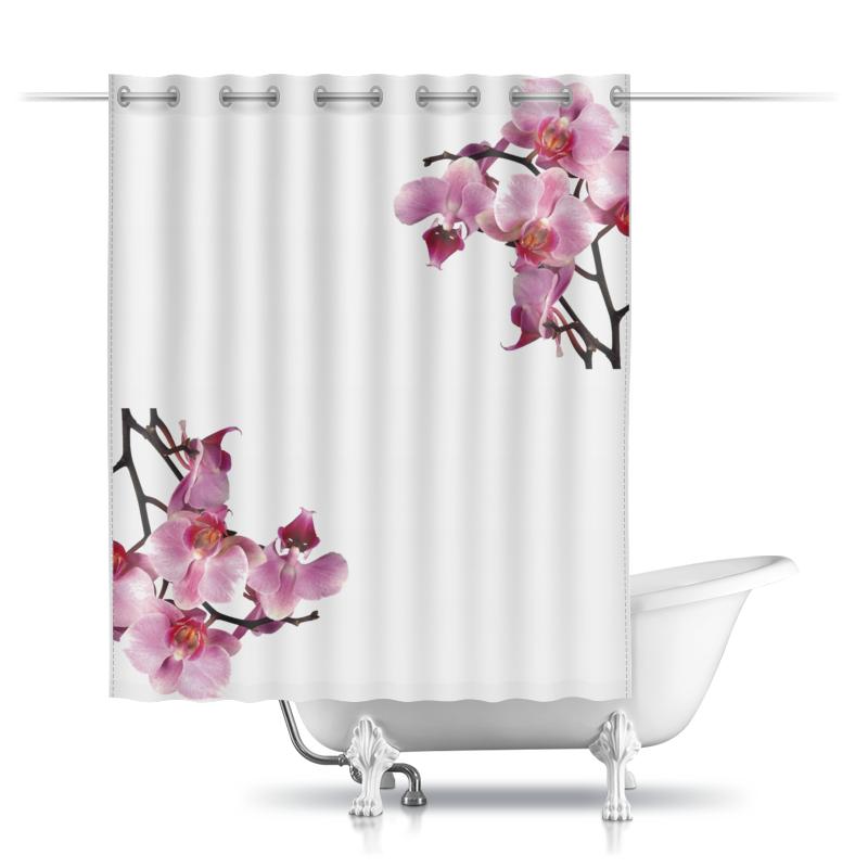 Шторы в ванную Printio Орхидея