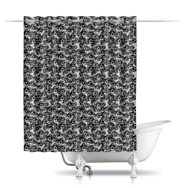 шторы Шторы в ванную Printio Камуфляж черепа