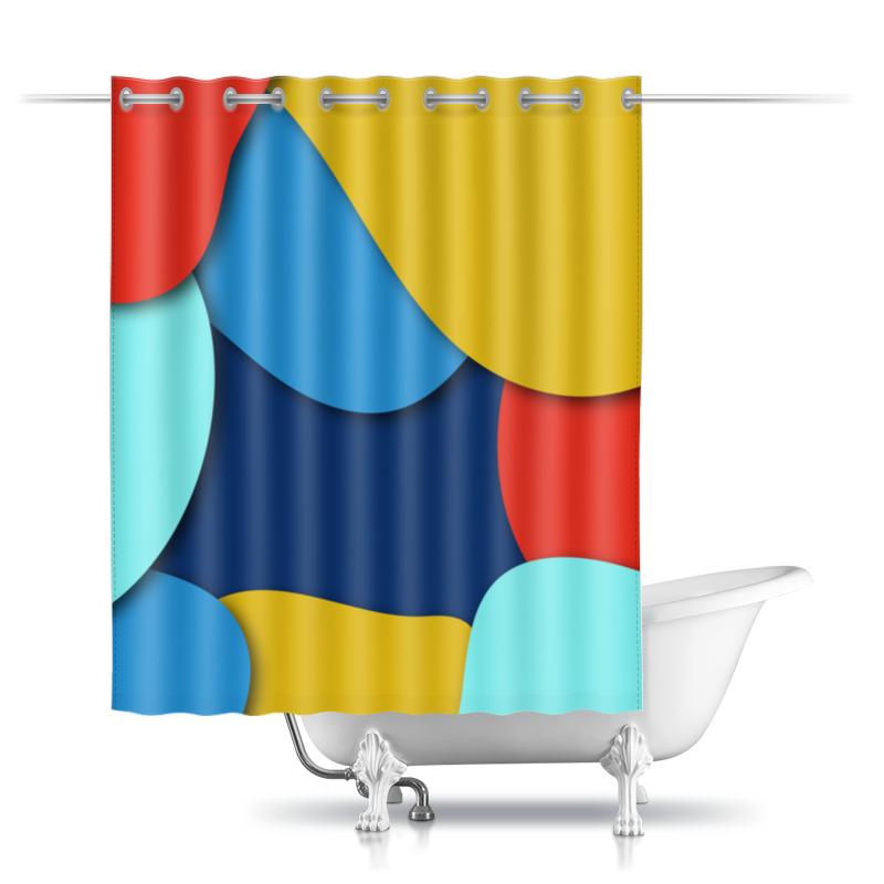 Шторы в ванную Printio Разноцветная абстракция цена 2017