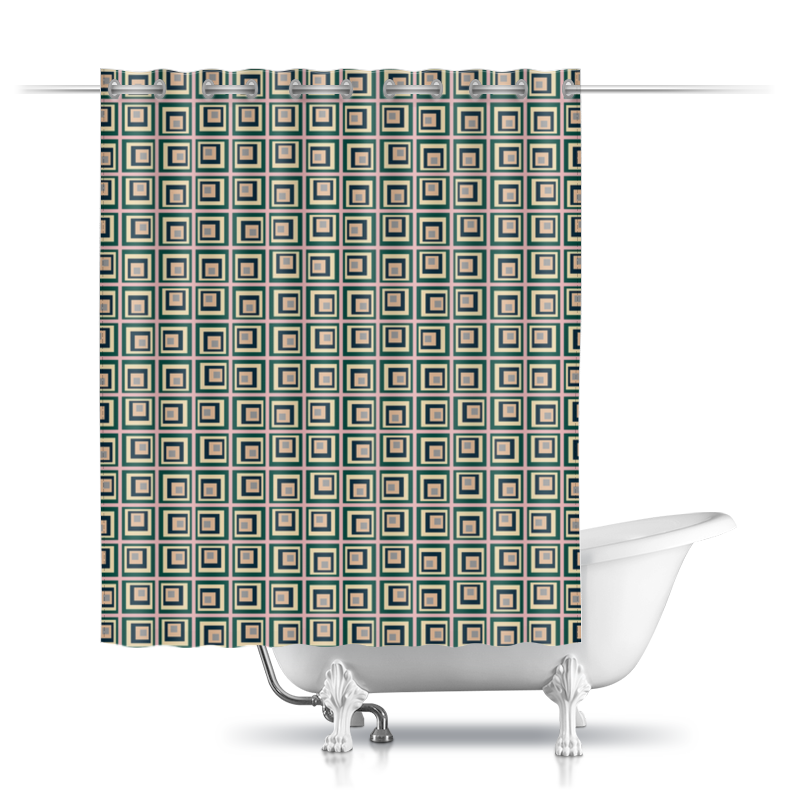 Шторы в ванную Printio Квадраты