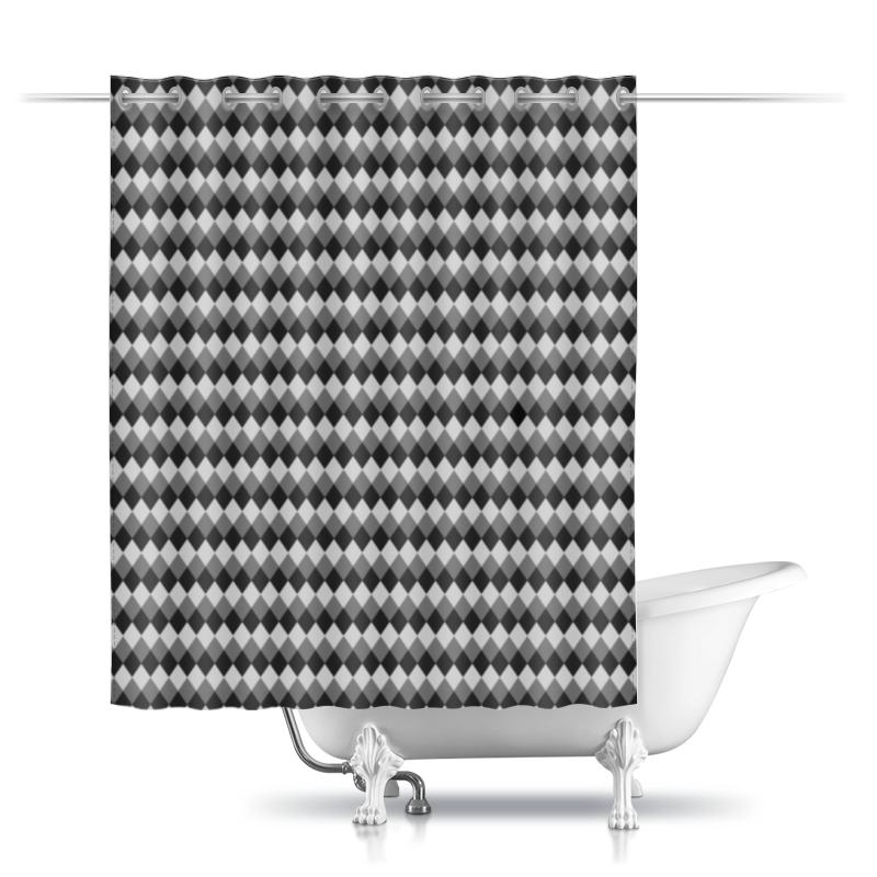 Шторы в ванную Printio Три оттенка серого
