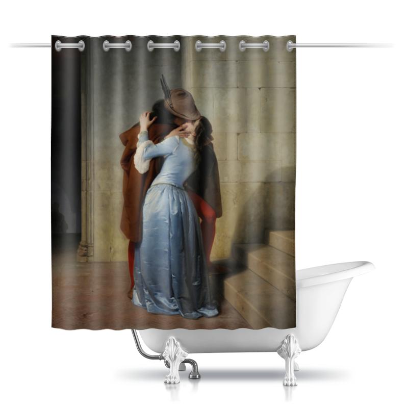 Шторы в ванную Printio Поцелуй (франческо айец) тетрадь на скрепке printio поцелуй франческо айец