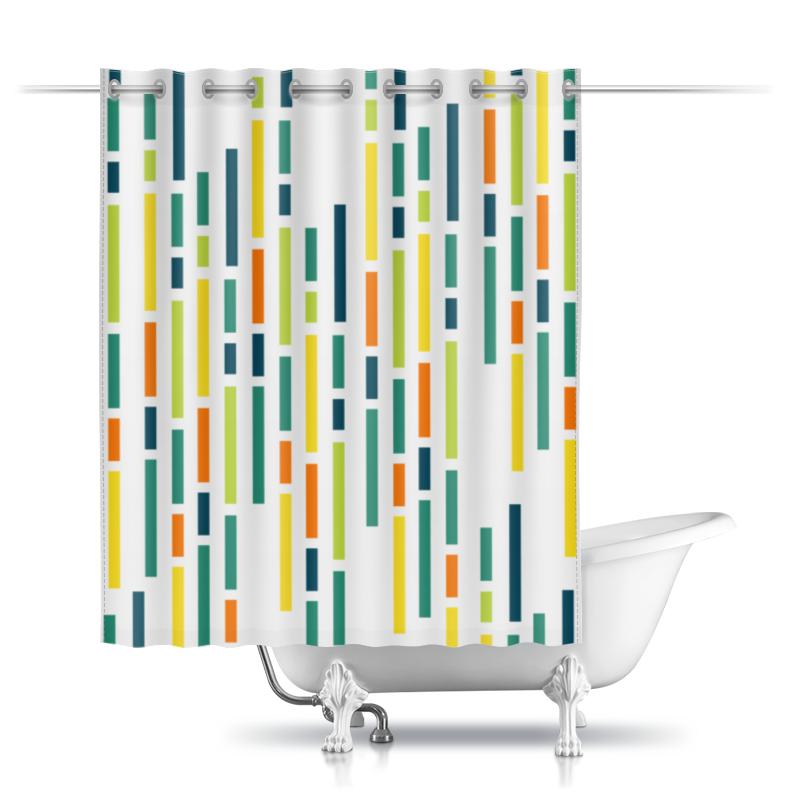 Шторы в ванную Printio Абстрактная шторы в ванную printio квадраты