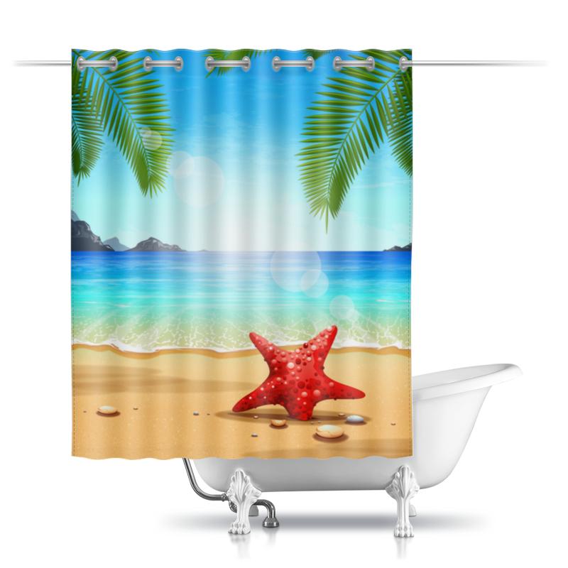 Шторы в ванную Printio Тропическая