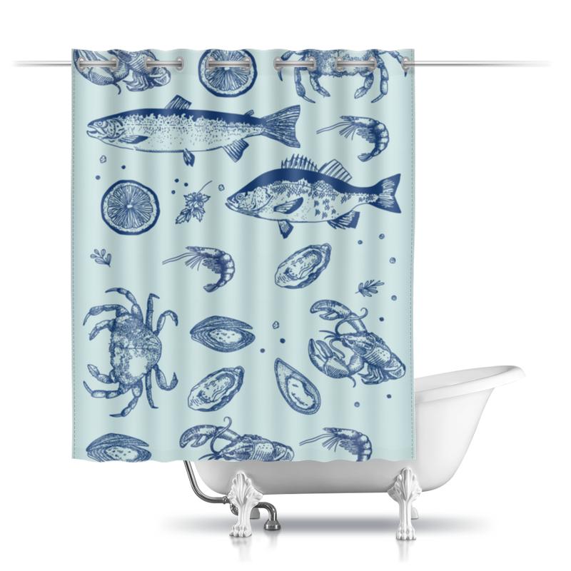 Шторы в ванную Printio Морская happy baby iqbubbles для ванной