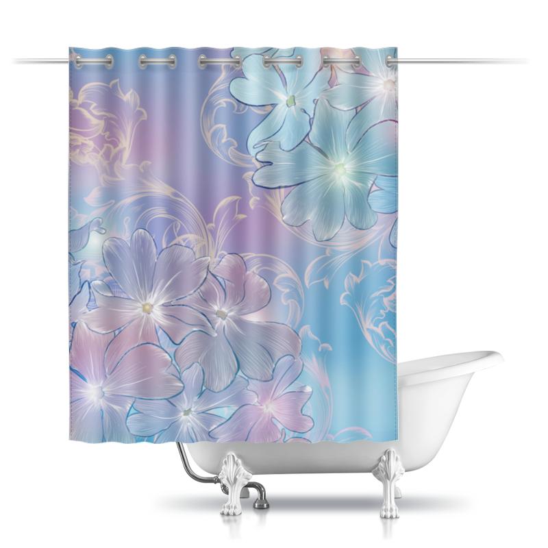 Шторы в ванную Printio Нежные цветы