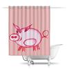 """Шторы в ванную """"Розовый поросенок"""" - арт, счастье, малыш, свин, розовый поросенок"""