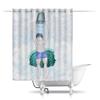 """Шторы в ванную """"Обливание ледяной водой"""" - зима, крещение, здоровый образ жизни, обливание ледяной водой, прорубь"""