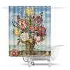 """Шторы в ванную """"Букет цветов на полке (Амброзиус Босхарт)"""" - цветы, картина, живопись, натюрморт, босхарт"""