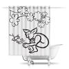 """Шторы в ванную """"Задумчивый тролль с лягушкой"""" - арт, тролль, лягушка, сказка, мифические существа"""