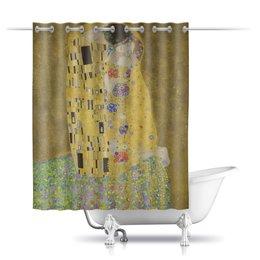 """Шторы в ванную """"Поцелуй (картина Климта)"""" - картина, поцелуй, живопись, климт"""