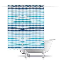 """Шторы в ванную """"Акварельная"""" - акварель, абстрактный, акварельный, волнистый"""