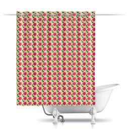 """Шторы в ванную """"Огненый цветок"""" - цветы, абстракция"""