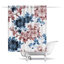 """Шторы в ванную """"Хризантемы"""" - цветы, цветок, хризантема, нежный цветок"""